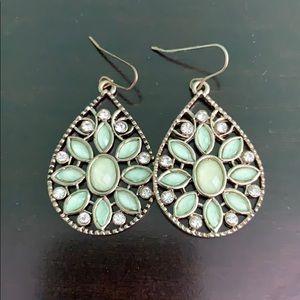 Sea Foam Green Jewel Earrings